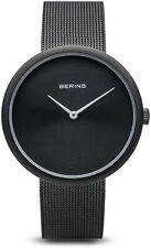 Bering Women Classic Quartz Black Stainless Steel/Milanese Mesh Watch 14333-222