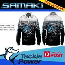 Samaki Long Sleeve Fishing Shirt Chrome GT - Adult and Child Sizes - Brand New!