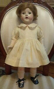 Antique Petite American Character Doll, Composition & Cloth, Sleep Eyes 1920's