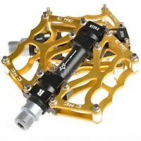 "ROCKBROS Bike Pedals Golden MTB BMX DH Downhill Pedals Platform Pedals 9/16"""