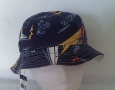 Polo Ralph Lauren Bucket Hat~White w/Stripe~Reversible~Sailboat~Size S/M~NWT