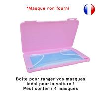 Boîte de rangement rose pour masque