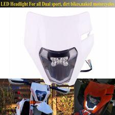 Dirt Bike LED Headlight Mask For EXC XCW XC SXF XCF 250 300 350 450 FE TE TC 450