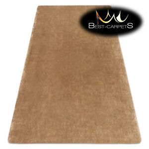 Amazing Modern washable RUG LAPIN light brown shaggy, thick Carpet easy to wash