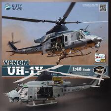 KITTY HAWK 1/48 UH-1Y USMC HUEY VENOM KIT