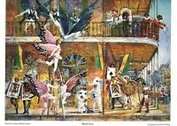 """Mardi Gras"" New Orleans by Robert M. Rucker Signed"