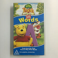 The Book Of Pooh: Fun With Words. VHS Video Tape Walt Disney Winnie Playhouse