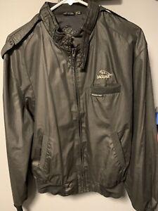 Vintage Members Only Jaguar Racer Jacket Size 40 Black