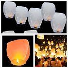 10Pcs Chinese Lanterns Paper White Lanterns 100% Biodegradable Environmentally