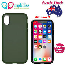SPECK Presidio Shockproof Heavy Duty Tough Case For iPhone X Dusty Green + TP