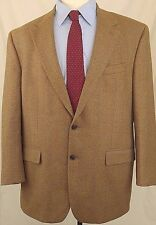 Ralph Lauren Mens Sz 46R Sport Coat Tan Herringbone Tweed 100%Wool Blazer Jacket