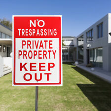 1x 20cmx30cm Metal No Trespassing Private Property Keep Out Aluminum Sign Office
