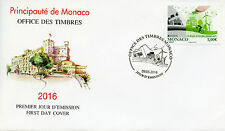 Monaco 2016 FDC Europa Think Green 1v Set Cover Windmills Bicyles Stamps