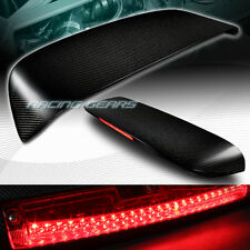 FOR HONDA CIVIC HATCHBACK CARBON FIBER REAR ROOF LED BRAKE LIGHT SPOILER WING