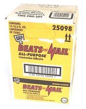 Box Of 8 New Dap Beats The Nail Construction Adhesive 25082 10.3 Fl Oz 25098