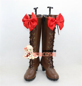 Black Butler Alois Trancy Brown Halloween Long Cosplay Shoes Boots X002