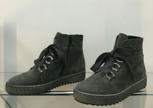 GABOR Ankle Boots Suede leather Grey Suit Size USA 7.5 / 8 / EU 38