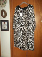 Jaclyn Smith NEW Animal Print Knit Dress with Shoulder Detail, size XXL