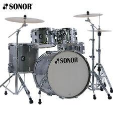 "NEW Sonor AQ2 Series 5 Piece 22"" STAGE Drum Set Shell Pack Titanium Quartz"