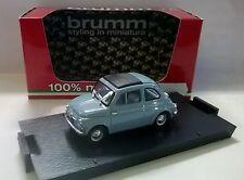 AUTO BRUMM 1:43 DIE CAST FIAT 500D COMPUERTA 1960 CELESTE LIMITED ED. R405-05