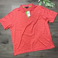 RALPH LAUREN SPORT size XL NWT pink and green stripe polo