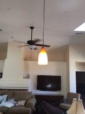 2 Mid Century Modern Retro Orange Hanging Lamp Light Fixtures