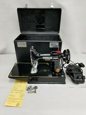 AMAZING CONDITION 1952 SINGER FEATHERWEIGHT 221 SEWING MACHINE CASE SERVICED WOW