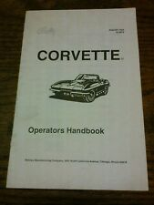 Bally CORVETTE Pinball Machine Fast Instruction Booklet-good used original