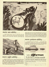 1964 vintage firearms ad, LYMAN Telescopic Gun Sight Corp. -040813