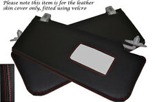 Red Stitch Fits Rover 45 400 MG ZS 98-05 2x Sun Visors Leather Covers Only