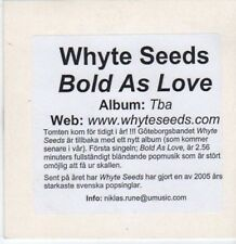 (BK879) Whyte Seeds, Bold As Love - 2005 DJ CD
