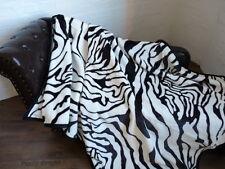 XXL KUSCHELDECKE Tagesdecke Wohndecke Decke Plaid Zebra 200x240cm