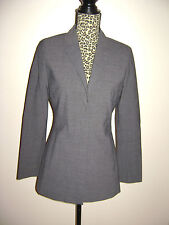 bebe WOMENS JACKET LONG BLAZER SUIT DRESSY size 4 GRAY STUNNING