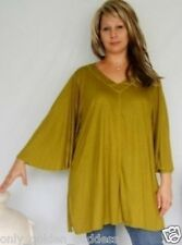 olive shirt top swing angel jersey one size L XL 1X 2X zk467