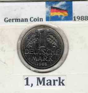 GERMAN ONE MARK COIN (EF) GRADE 1975-D (Reduced)