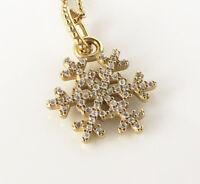 PANDORA Sparkling Snowflake Pendant Charm 14K Gold Vermeil 390354CZ Genuine