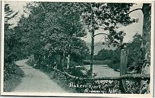 Postcard NH Rumney Bakers River Road Fence R11