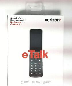 Verizon Prepaid eTalk - 4GB - Gray Cellular Flip Phone
