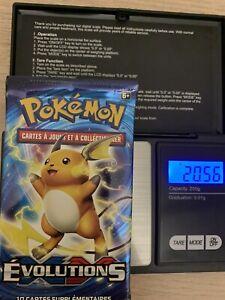 1 Booster cartes Pokémon Évolution XY Raichu Lourd 20,56 FR