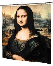 Mona Lisa Fabric Shower Curtain by Leonardo Da Vinci