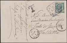 MALTA 1909 postcard ex Italy postage due 1d in circle.......................8838