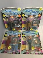 Lot of 4 Playmates Star Trek The Next Generation Action Figures 1993 NEW