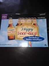 """Nip """"Happy Beer Day Birthday� 25"""" Foil Balloon By Anagram"""