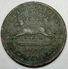 1837 Hard Times Token-HT 34-ILLUSTRIOUS PREDECESSOR-Fine, details-ASS / TURTLE