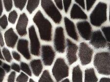 "Brown Giraffe Velboa Faux Fur Fabric - Sold By The Yard - 58""/ 60"""