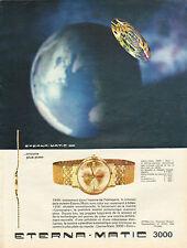 Publicité Advertising 1963 Montre ETERNA MATIC 3000