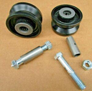 "3"" inch V Groove Caster Wheel For Rolling Sliding Driveway Gates | 2 Pack"