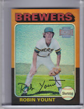 2001 TOPPS ARCHIVES RESERVE #86 ROBIN YOUNT 1975 STYLE REFRACTOR BREWERS HOF