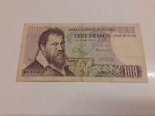 Billet 100 Francs Belge 1972 Banque nationale de BELGIQUE