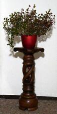 Tolle 60cm Holz BLUMENSÄULE braun Blumenständer Deko Blumentisch Bali BLST 03
